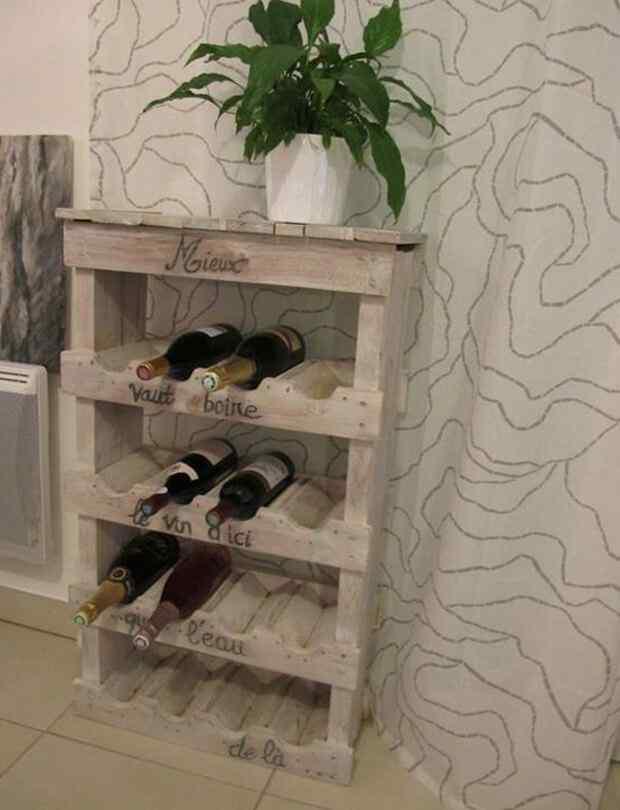 vinoteca con palets