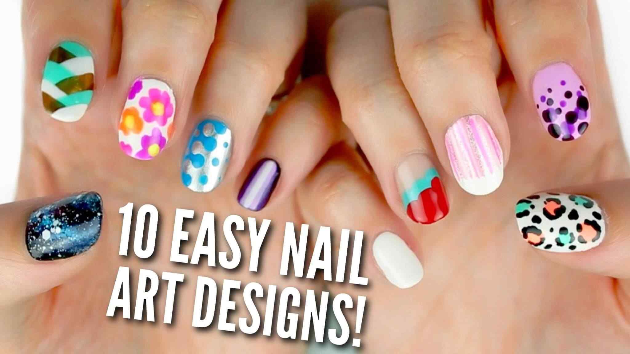 10 diseños de uñas faciles para principiantes
