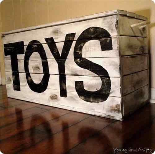 Mueble de palet para niños organizador de juguetes