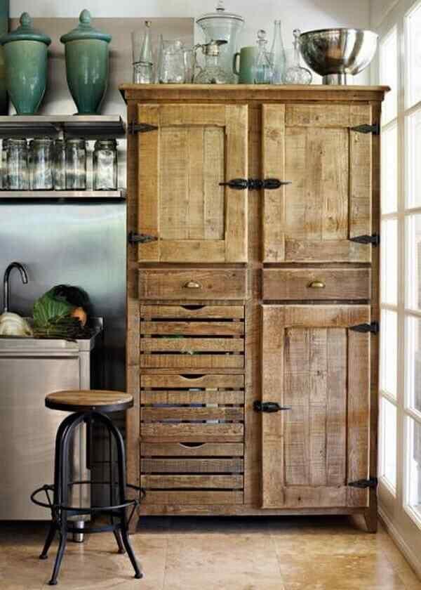 armario cocina muebles palet