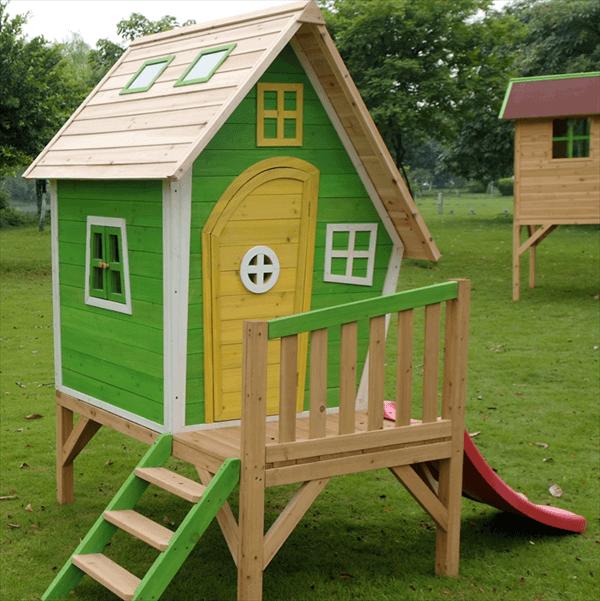 casita de palet para niños