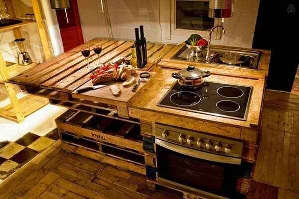 cocina muebles palet madera