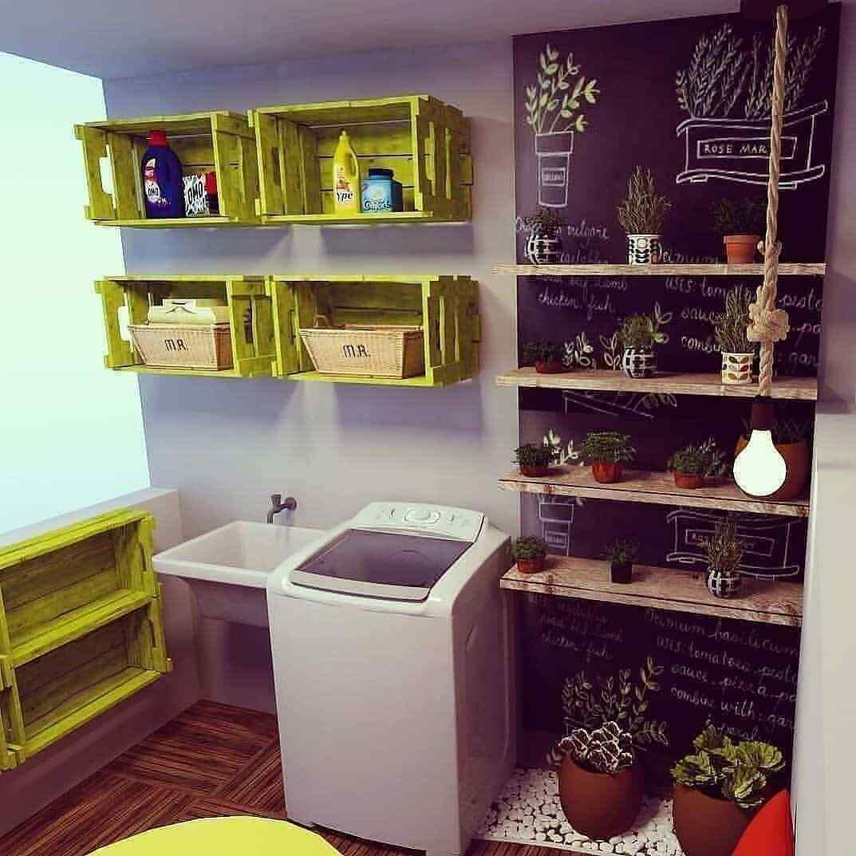 estantes con palet