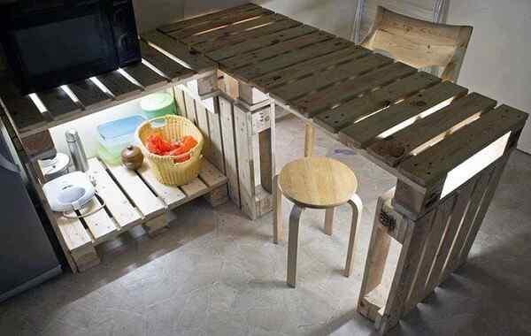mesa isla cocina palet