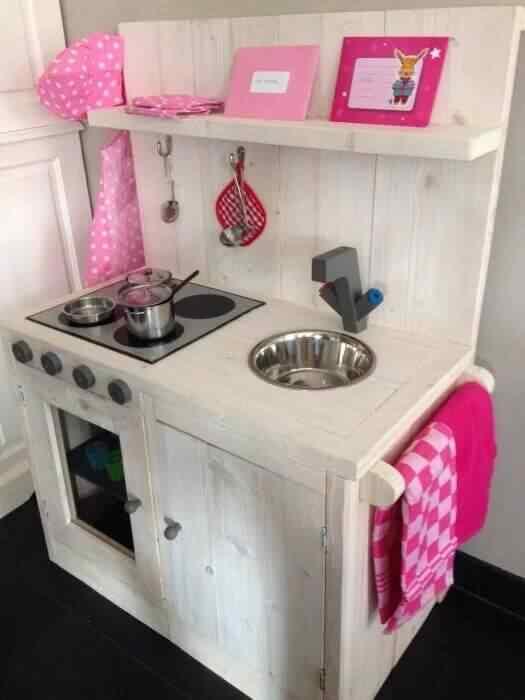 mueble de palet cocina juguete
