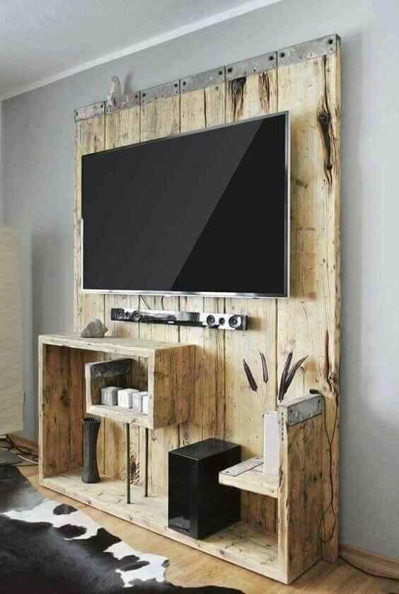 mueble de palet para audio y tv