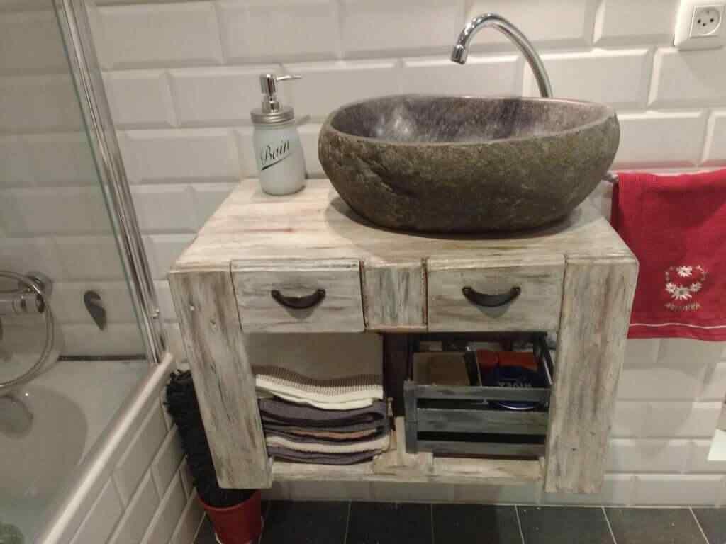 mueble de palet para baño chico