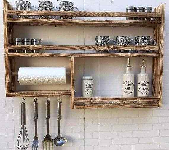 mueble de palet para cocina estantes
