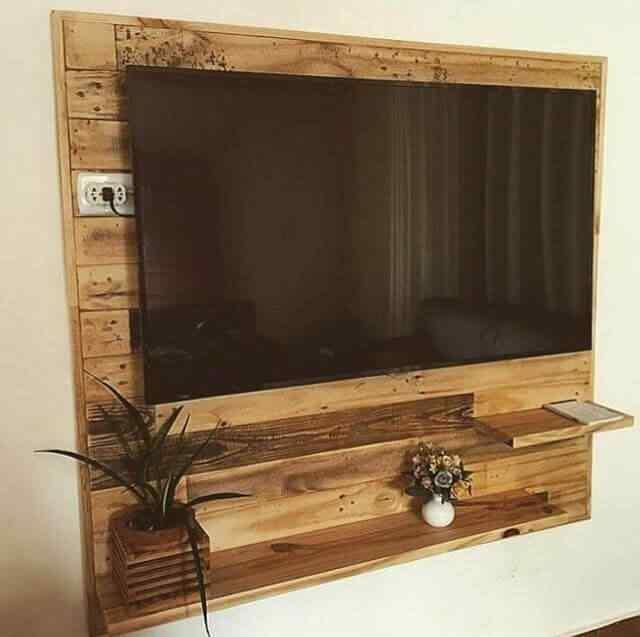 mueble de palet para tele