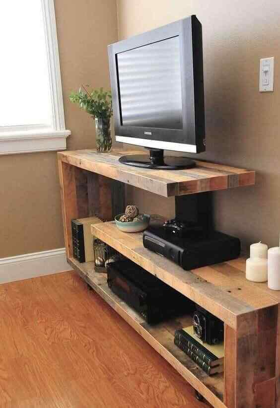 mueble de palet para tv y audio