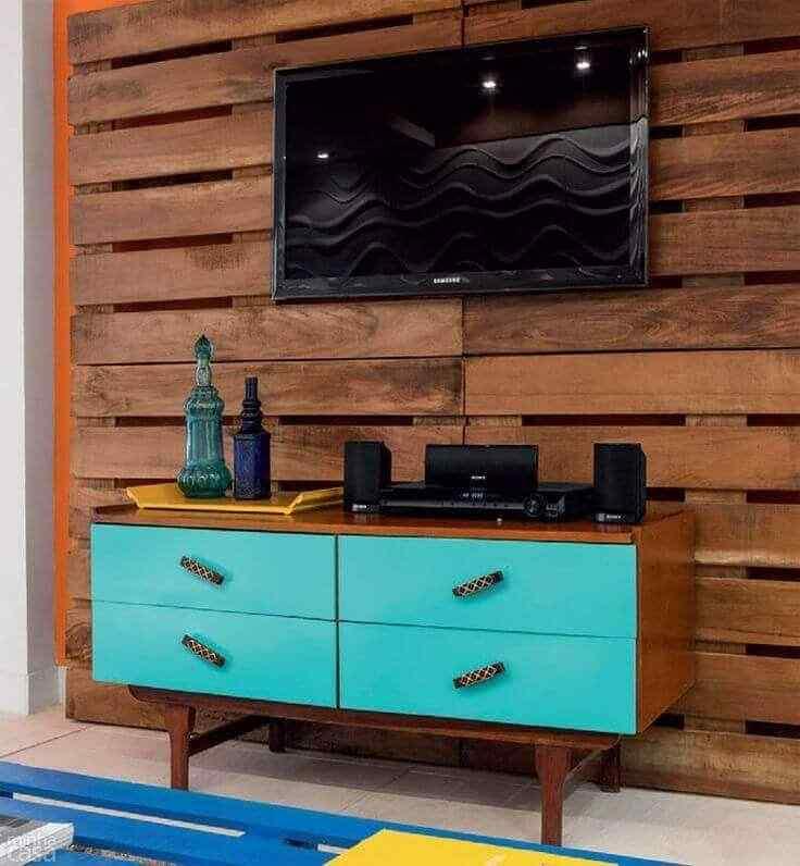 mueble de palet para tv