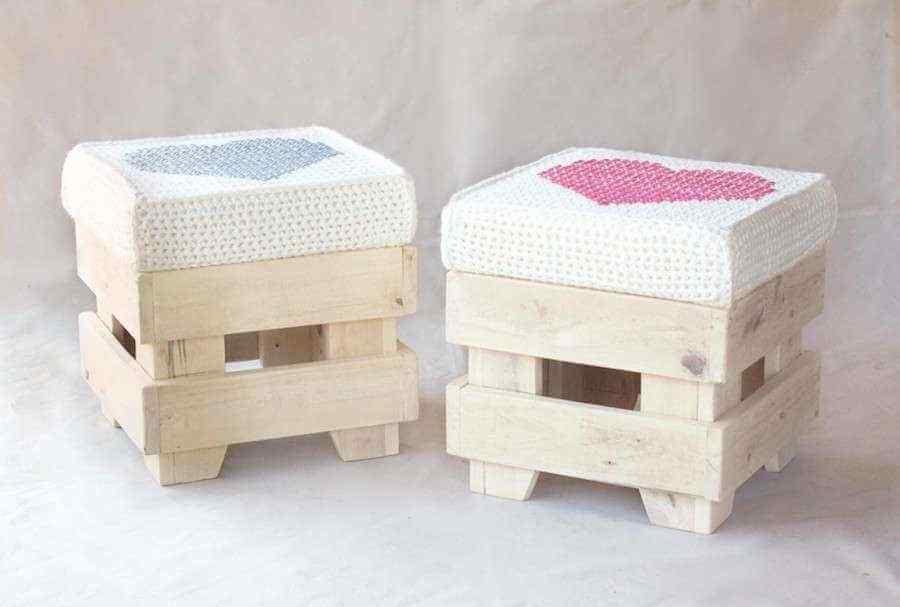 mueble de palet silla para niños