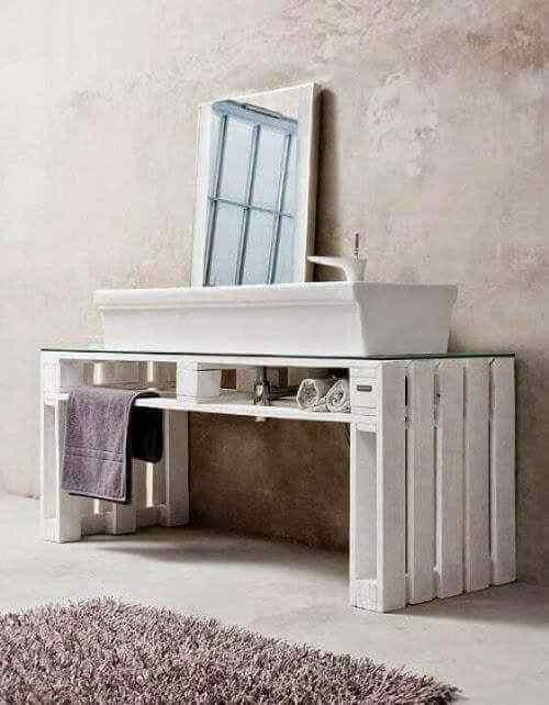 mueble de palets para baño