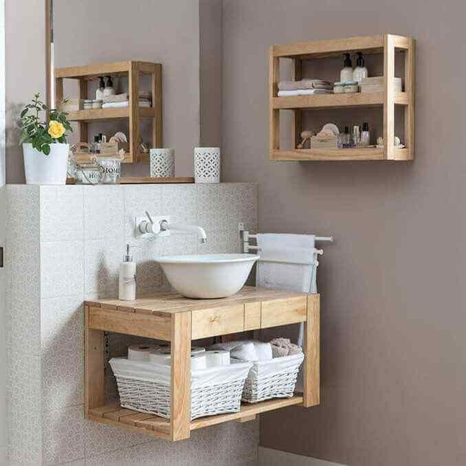 mueble lavabo de palet baño