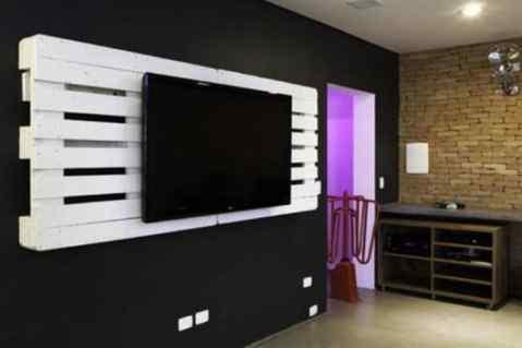 mueble moderno para tele con palet