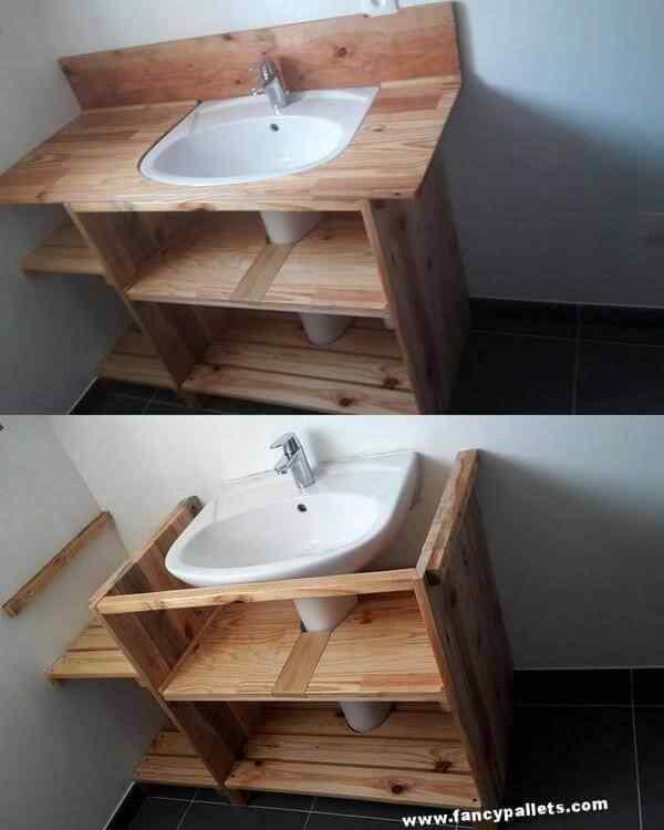 mueble para baño con palets