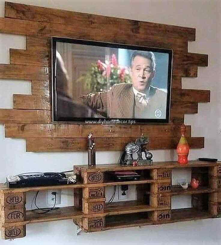 mueble para tv con palet