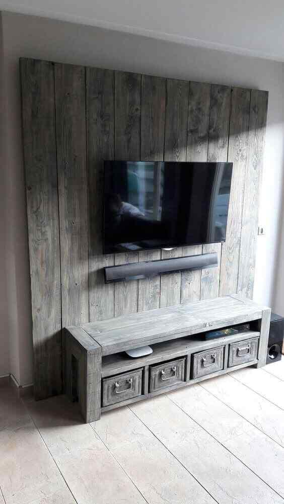 mueble para tv con palets