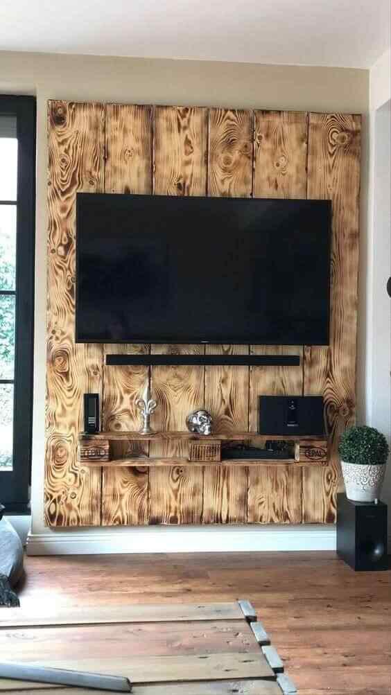 mueble para tv madera palet