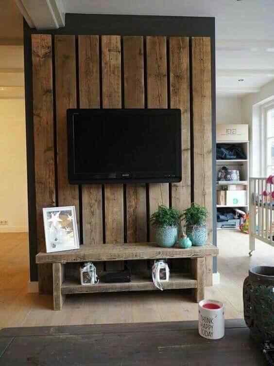 mueble tv con palet