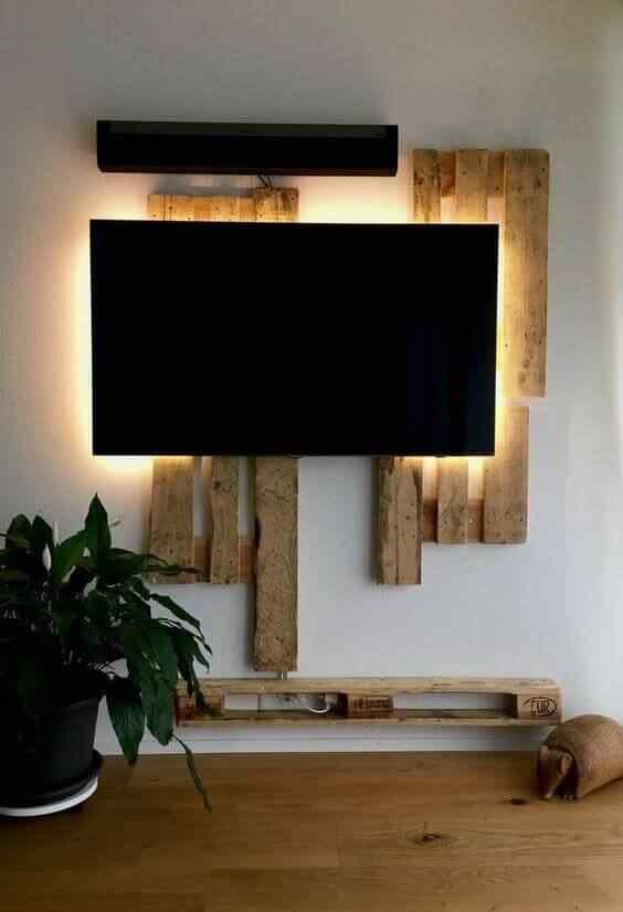 mueble tv en palet