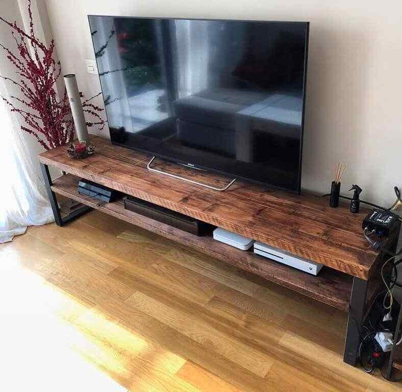mueble tv estilo industrial palet