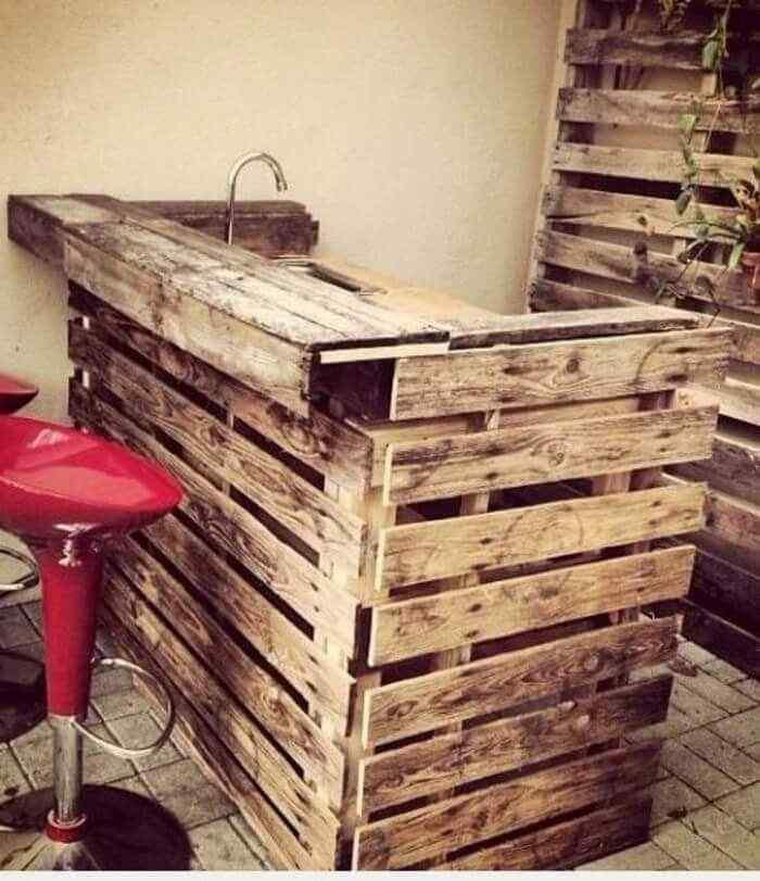 muebles con palets bar cocina mobiliario