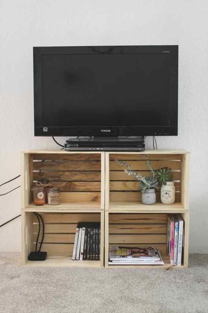muebles con palets estar de pie para tv