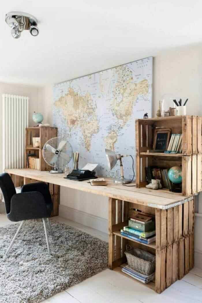 muebles con palets idea de mobiliario de oficina