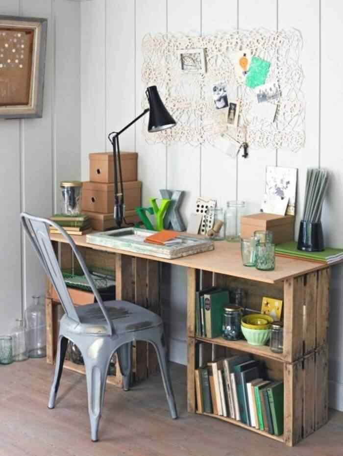 muebles con palets oficina para los ninos