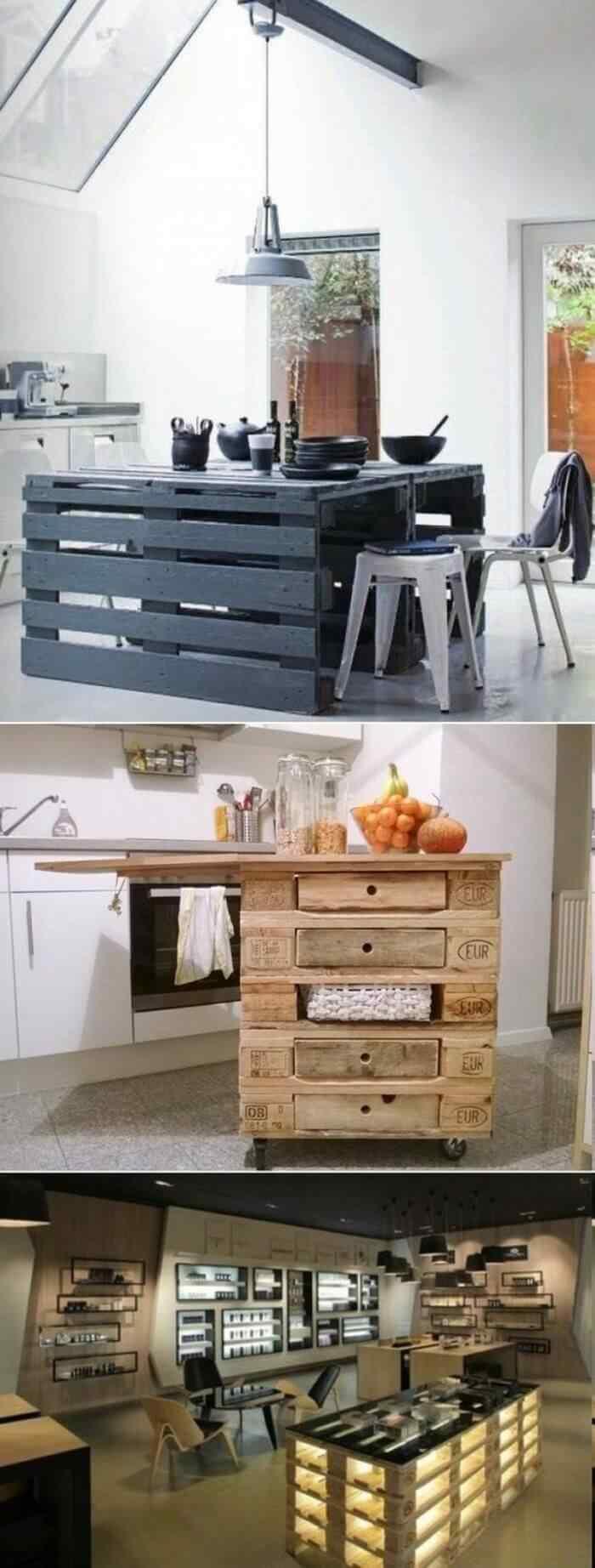 muebles de palets mesa de comer y bar de palets