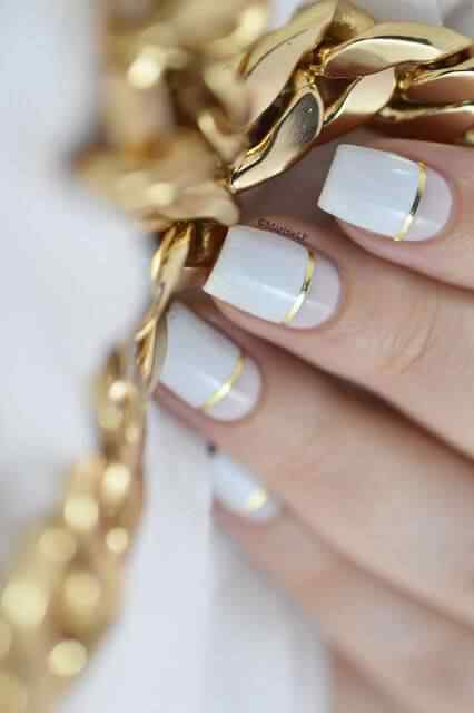 uñas elegantes blancas