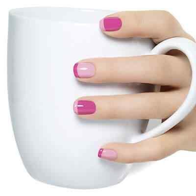 uñas francesa rosa