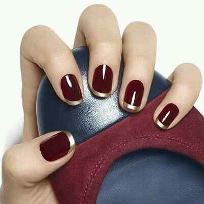 unas pintadas rojo y dorado (7)