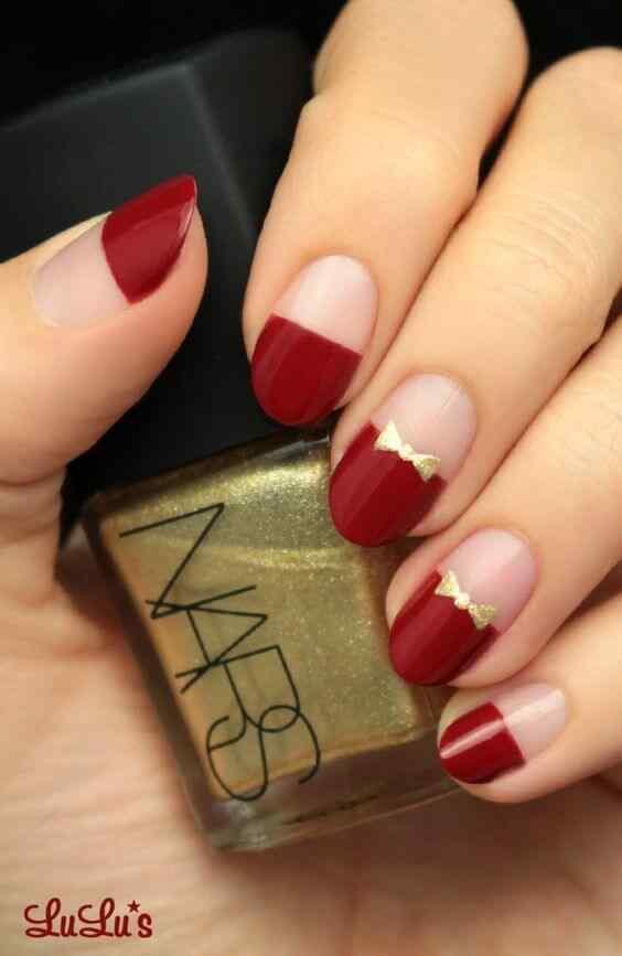uñas rojas elegantes