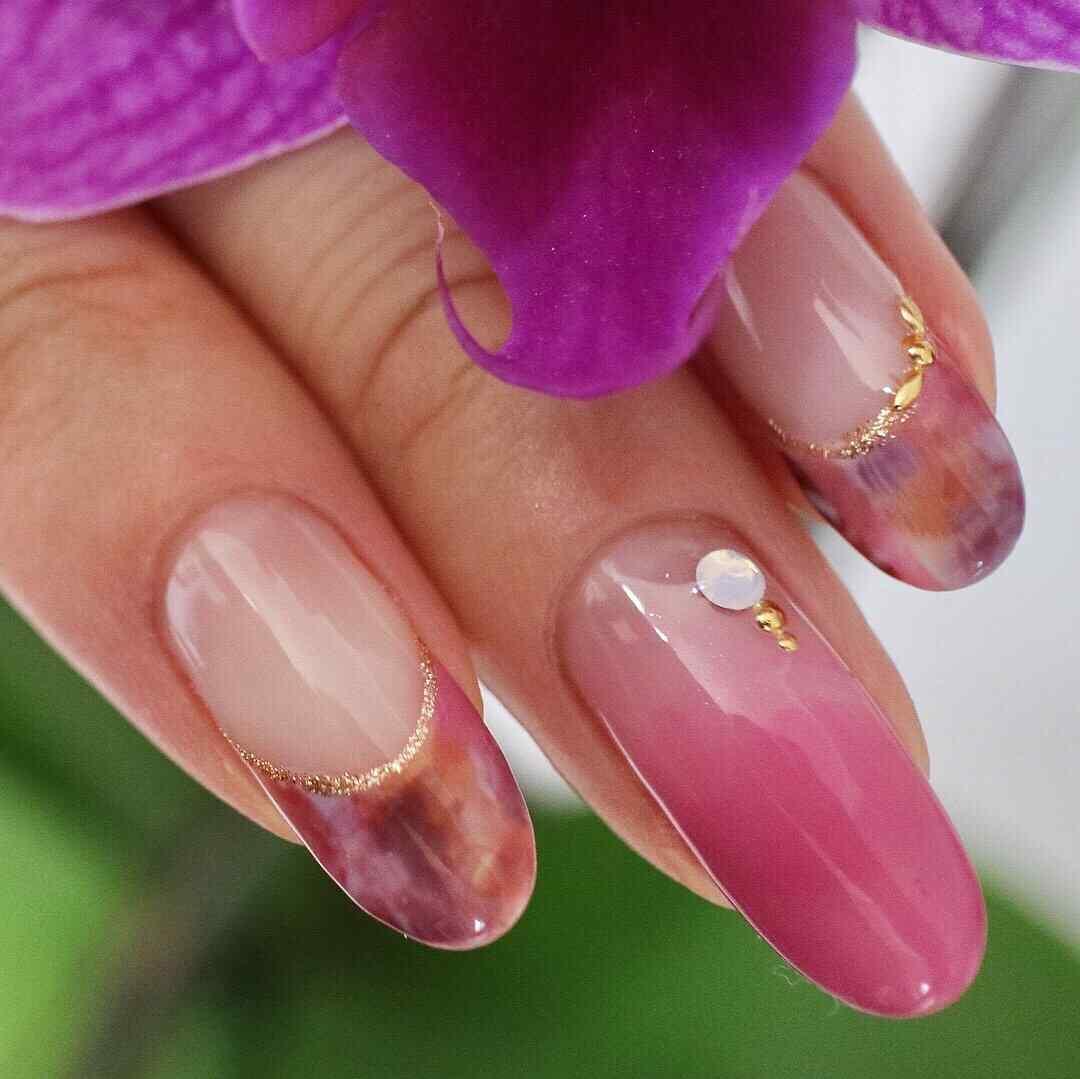 uñas rosa elegantes
