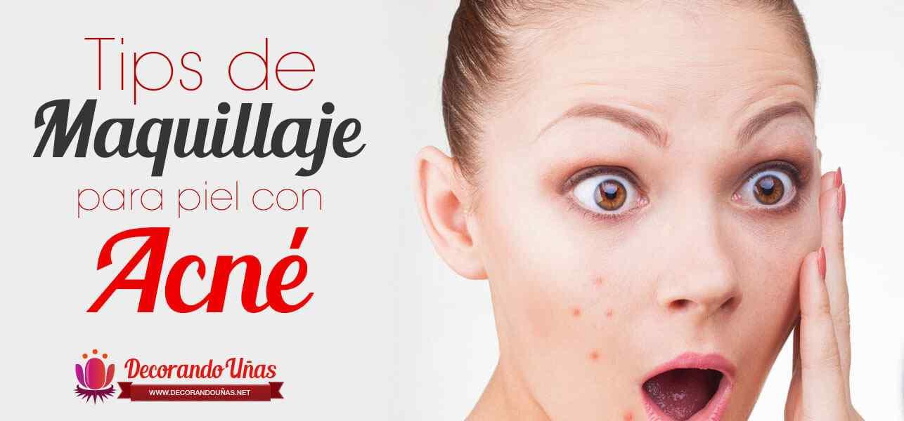 maquillaje piel con acne