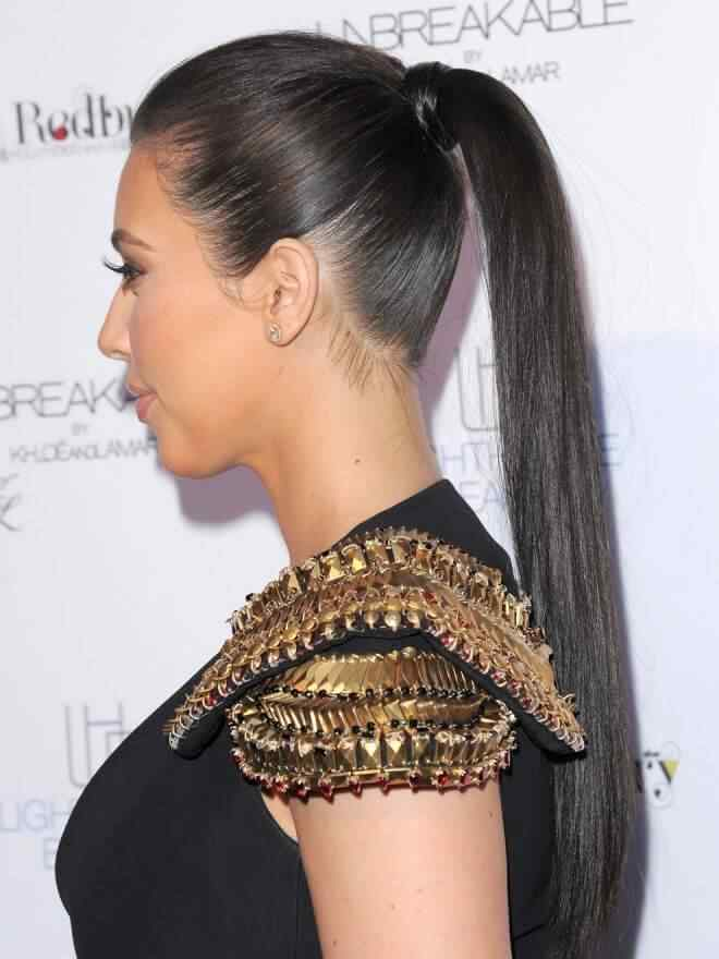 peinado cola de caballo Kim Kardashian