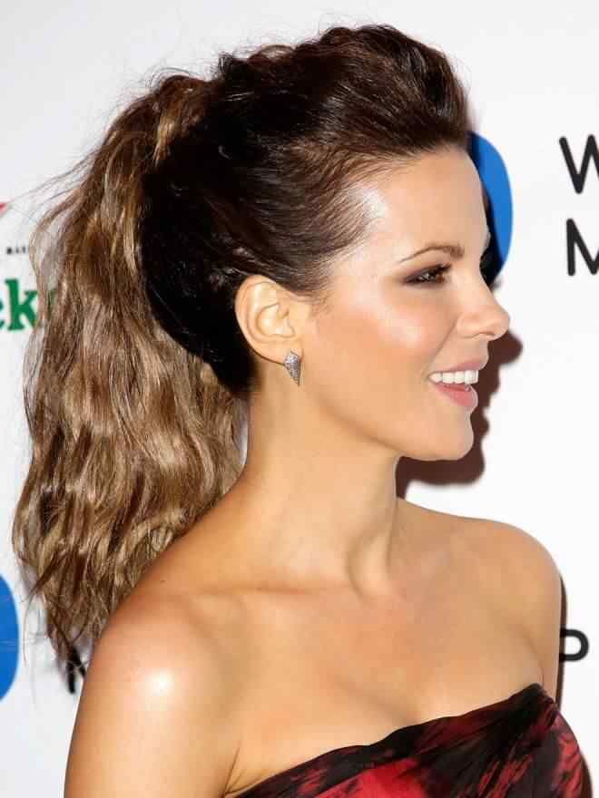 peinado coleta de Kate Beckinsale