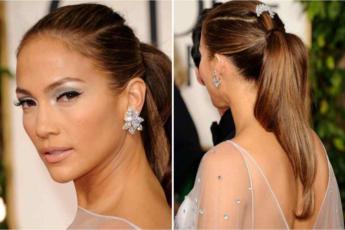 Peinado con cola de caballo Jennifer Lopez