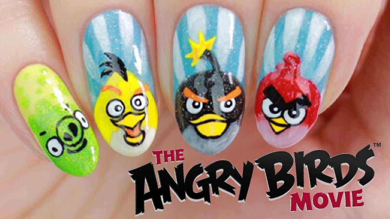 uñas decoradas angry birds