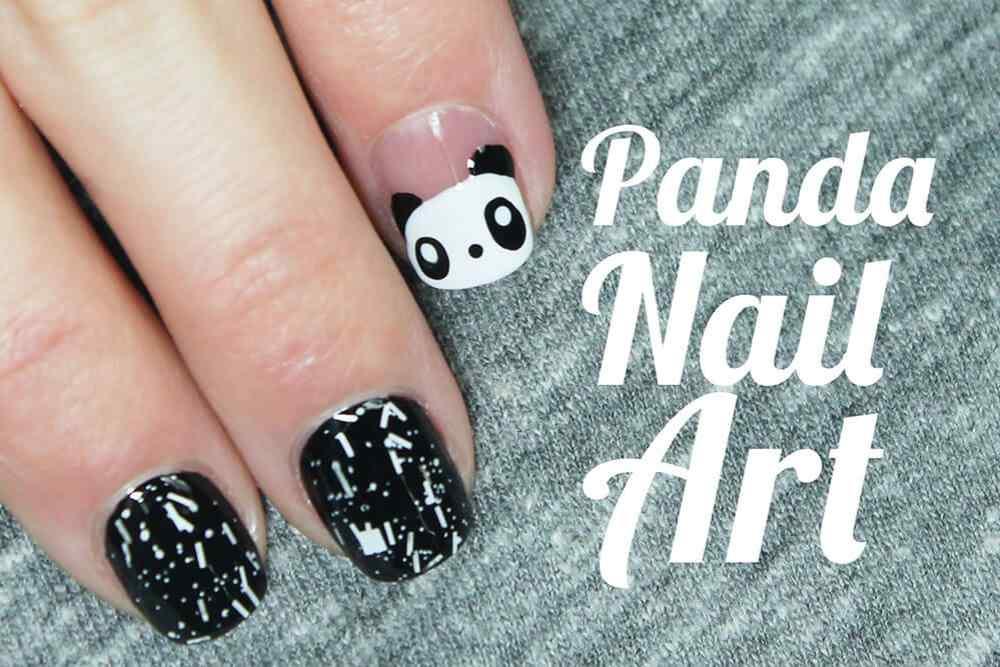 uñas decoradas oso panda