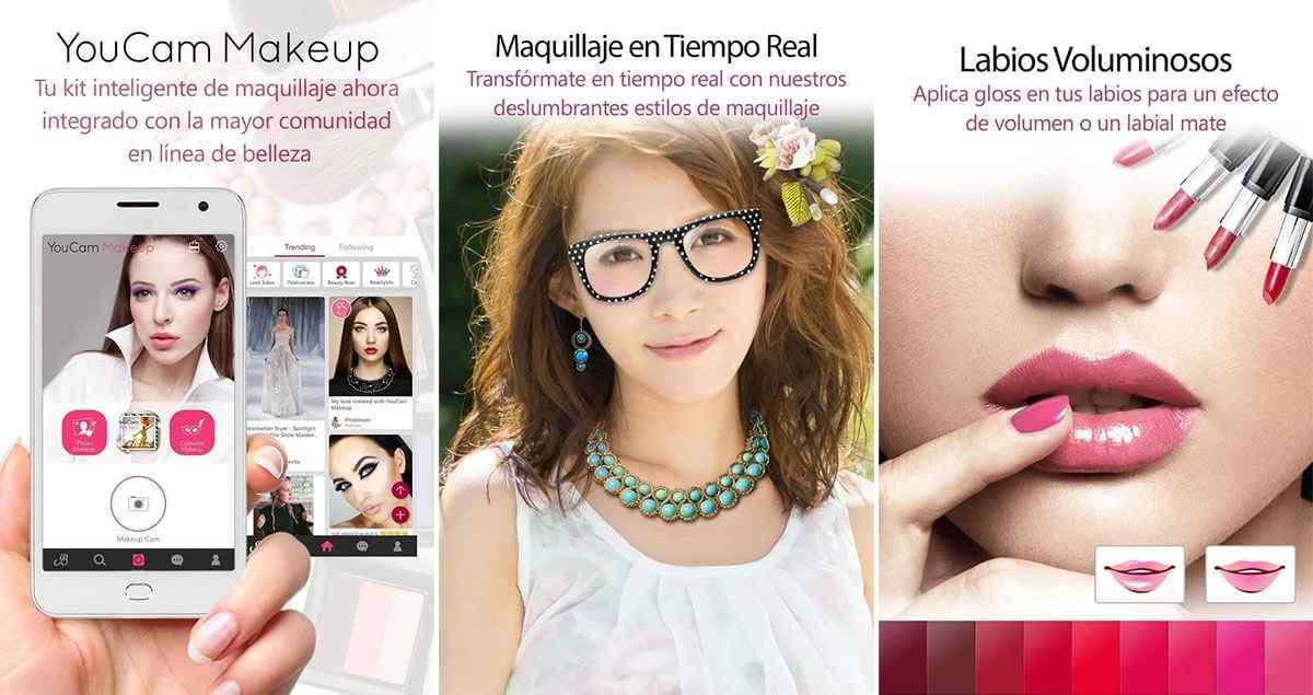 Youcam makeup app de maquillaje en vivo