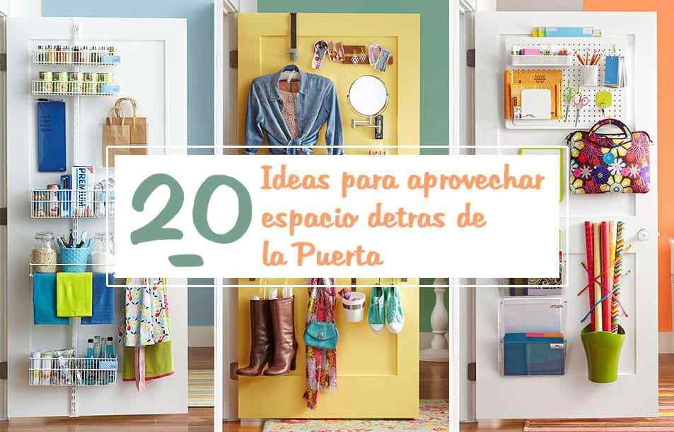 20 ideas para aprovechar los espacios detras de las puertas