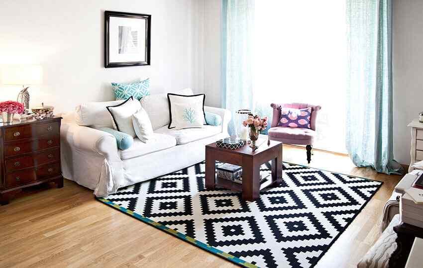 decoracion con alfombras