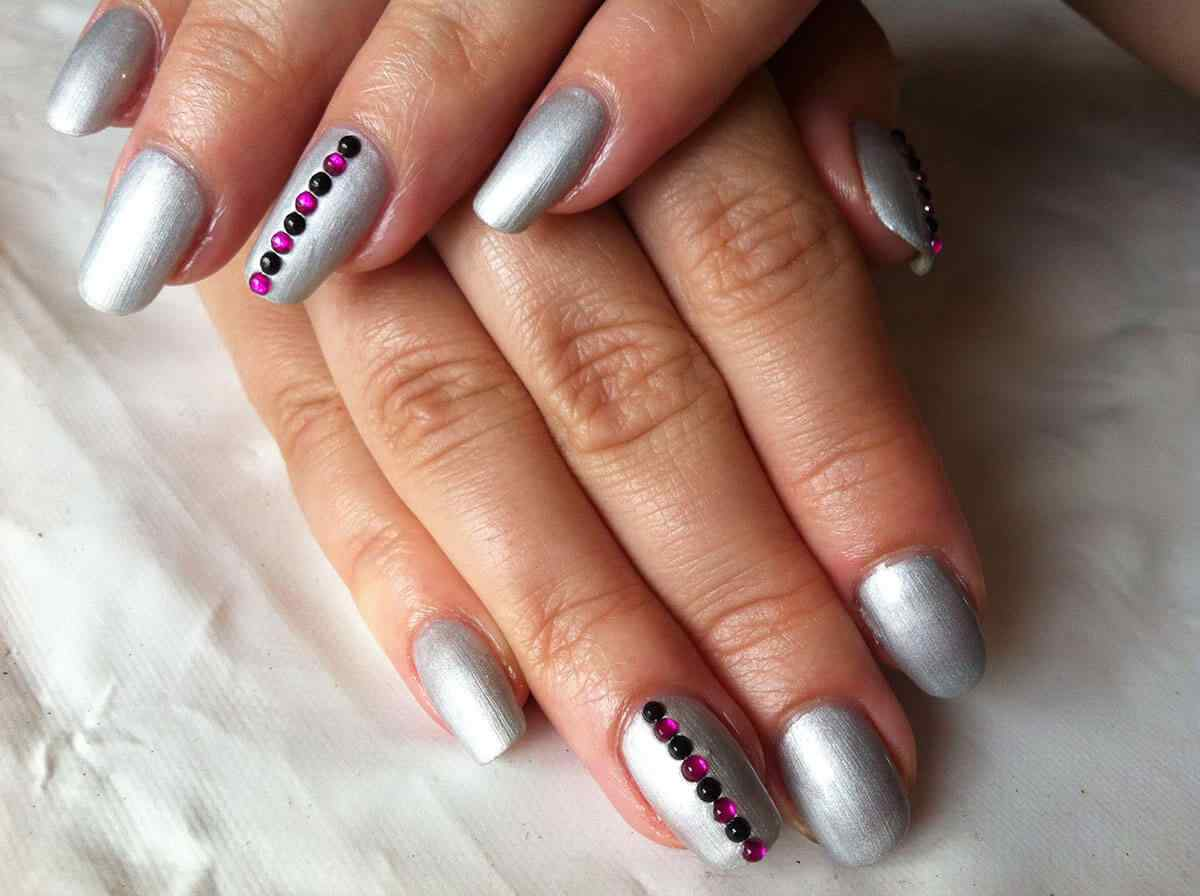 80 DISEÑOS DE UÑAS PLATEADAS | UÑAS DECORADAS - NAIL ART - photo#22