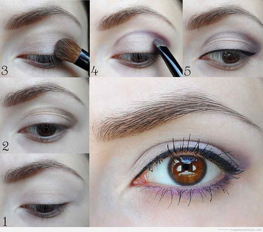 Maquillaje de ojos color miel
