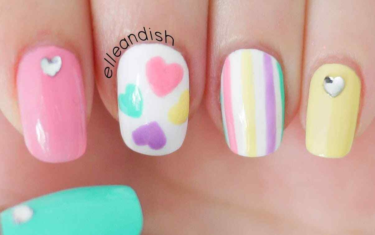 nailart romantico unas decoradas