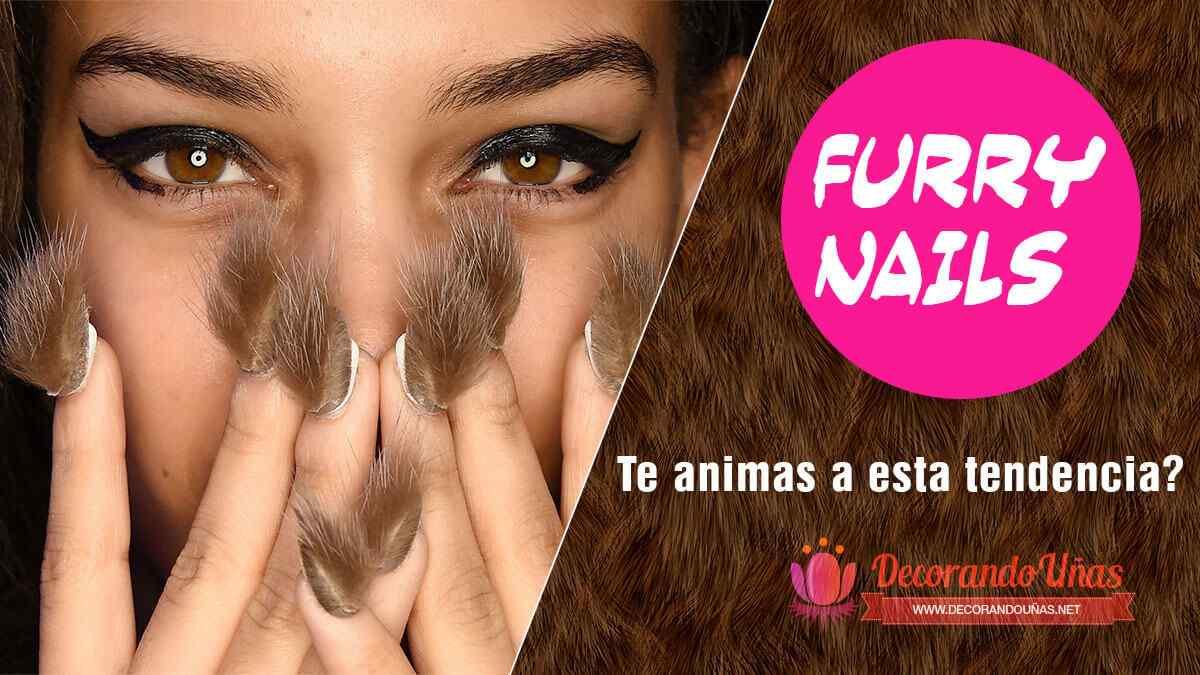 furry nails tendencia