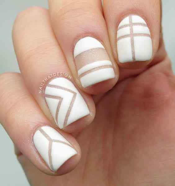 ideas de uñas color blanco